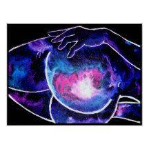 Hubble Butt Poster Cosmic Art, Illustration, Poster