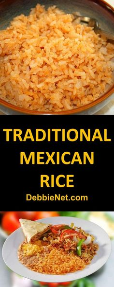 Mexican Rice A great addition to taco night. Mexican rice is easy to make and has so much more flavor that regular white rice. Rice A great addition to taco night. Mexican rice is easy to make and has so much more flavor that regular white rice. Authentic Mexican Recipes, Mexican Rice Recipes, Mexican Cooking, Mexican Desserts, Mexican Food For Party, Healthy Mexican Food, Mexican Rice Dishes, White Rice Recipes, Mexican Dinners