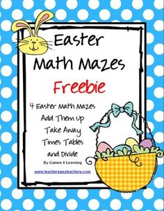 Easter Math Mazes