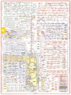 This was an infographic before there were infographics. Of course, this is only a portrait of one facet of biochemistry, metabolism. There is so much more to biochemistry that just enzymatic pathways. Cell Biology, Ap Biology, Molecular Biology, Biochemistry Notes, Quantum Mechanics, Organic Chemistry, Anatomy And Physiology, Biotechnology, Teaching Science