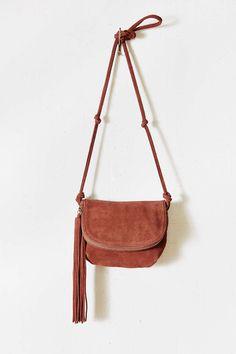 Suede  tassel sling bag