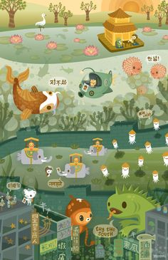 the octonauts explore the east (by meomi)
