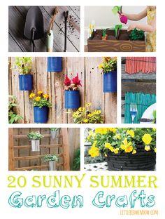 20 Sunny Summer Garden Crafts    littleredwindow.com