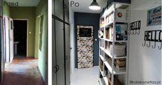 Metamorfoza przedpokoju,  biblioteczka w przedpokoju, książki w przedpokoju, regały w przedpokoju, Books in the Hall