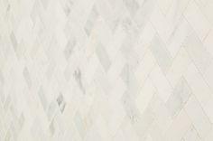 "Marble Mosaic - Carrara Marble Series - Arabescato Herring Bone 1""x2"" Honed"