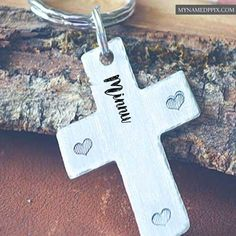 Personalized Cross Keychain With Name Images Online Editor