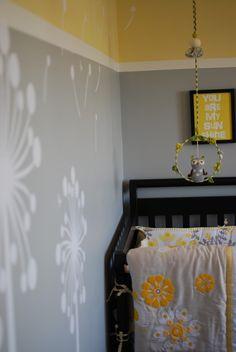 Grey and yellow baby room Yellow Nursery, Owl Nursery, Baby Yellow, Nursery Room, Kids Bedroom, Nursery Decor, Baby Room, Nursery Ideas, Kids Rooms