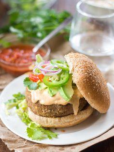 Vegan Lentil Nacho Burgers