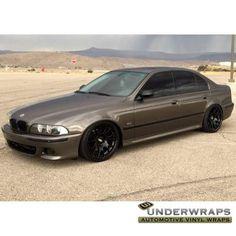 Wicked BMW 540i wrapped in 3M 1080 Gloss Charcoal Metallic. Thx Underwraps Nation, underwrapsnation.com