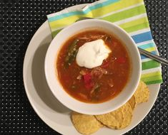 Kanakeitto meksikolaisittain Chili, Soup, Ethnic Recipes, Red Peppers, Chile, Soups, Chilis