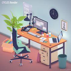 Cool toon 3d illustration.
