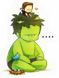 Hulk and Hawkeye
