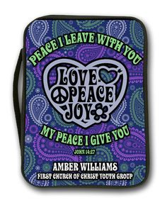 """""""Love & Peace"""" Bible Cover"""