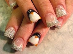 Winter Pinguin by crystal_marie - Nail Art Gallery nailartgallery.nailsmag.com by Nails Magazine www.nailsmag.com #nailart