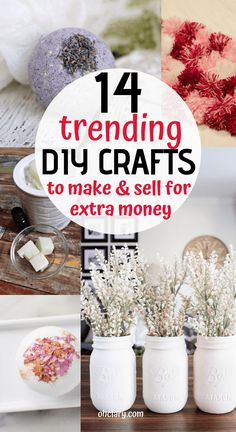 Easy Crafts That Make Money - 14 Simple Crafts To Make And Sell For Extra Money, DIY and Crafts, 14 Awesome DIY Crafts That Sell Well At Craft Fairs and On Etsy! These fast & easy to make handmade project ideas can be made by teens and are great f. Diy Crafts For Bedroom, Diy Crafts For Teen Girls, Diy And Crafts Sewing, Easy Diy Crafts, Diy Craft Projects, Project Ideas, Simple Crafts, Kids Crafts, Crochet Projects