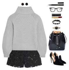 """""""Because she have opinions and people don't like that"""" by xoxomuty ❤ liked on Polyvore featuring Valentino, Iris & Ink, Gianvito Rossi, N°21, Melissa Joy Manning, Rolex, RED Valentino, Chanel, Yves Saint Laurent and Guerlain"""