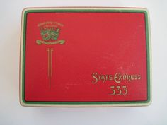 Excited to share the latest addition to my #etsy shop: State Express 333 cigarette tin (100) by Ardath Tobacco Company c.1930/50 http://etsy.me/2C87Q1w #vintage #collectables #tobaccocollectibles