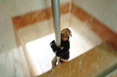 Mahboubeh Khoshsolat, one of the only women's fire and rescue units in the Middle East, slides down the fire pole at Fire Station No. 9 Oct. 5, 2005 in the city of Karaj, west of the Iranian capital Tehran. (Scott Peterson/Getty Images) From: 39 Stunning Images Celebrating Women Around The World
