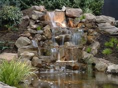 rock waterfall - A good book and a glass of wine and the sound of water.  PARADISE! Oh, and a bathroom close by.