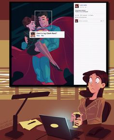 There are no secret identities on Facebook.  (artist: Max Karpsten)