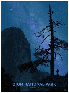 Zion National Park Poster by Dan McCarthy