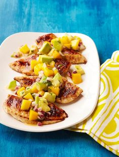 Mango Salsa Chicken recipe -  A very popular pin with lively flavours!
