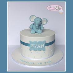Boy's Baptism Cake www.cake-oh.com.au