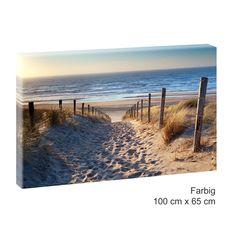 Bilder Leinwand Keilrahmen Bild Meer Strand XXL 150cm* 50cm Nordseestrand sw 301
