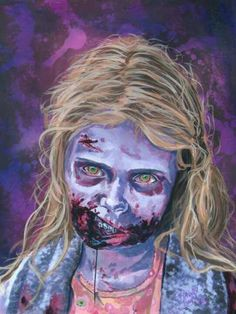 Gas Station Girl?  The Walking Dead.  Zombie Art