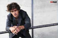 Relaxing, Brenton Thwaites dons a look from Givenchy for Da Man.