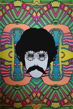 "The ultimate psychedelic artist of the '60s....Peter Max!  His ""self portrait"", 1968"