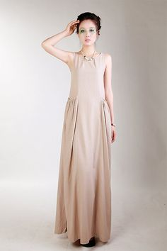 KL110D Dark Horse/Womens Clothing Plus Size Petite Maternity Day Party Prom Casual Maxi Long Handmade Summer Chic Linen Cotton Dress
