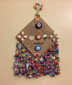 Nazarlık, nazar, nazar boncuğu, amulet, hand made, design, çuval bezi