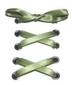 "1/4"" Kiwi Narrow Satin Ribbon Shoelaces ✿ Our beautiful ribbon shoelaces make your ordinary shoes look extraordinary ✿"