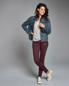 High rise super skinny military pants!! Love the color!