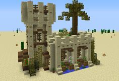 Medieval Desert House 3 - GrabCraft - Your number one source for MineCraft build. - Explore the best and the special ideas about Minecraft Buildings Minecraft Building Blueprints, Minecraft Plans, Minecraft Tutorial, Minecraft Designs, Minecraft Creations, Minecraft Crafts, Cool Minecraft, Minecraft Party, Minecraft Room