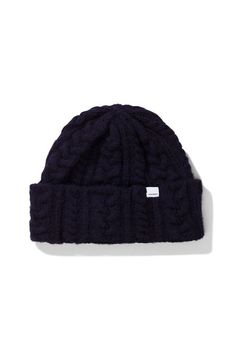 907c19b737e Norse Projects Brushed Cable Beanie - Dark Navy Norse Projects