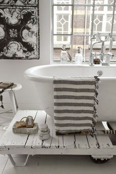 gray + white bath | rustic + vintage