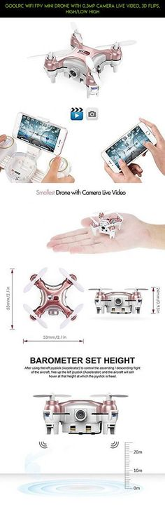 GoolRC Wifi FPV Mini Drone With 0.3MP Camera Live Video, 3D Flips, High/Low High #gadgets #camera #tech #kit #drone #fpv #parts #goolrc #plans #technology #racing #shopping #products #drone #mini