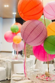 How to decorate with sparkles, colours and a few chinese lanterns... make any event fun without blowing your budget!