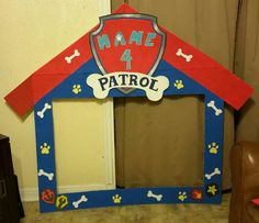 Paw Patrol picture frame prop for birthday by AllThemesPossible