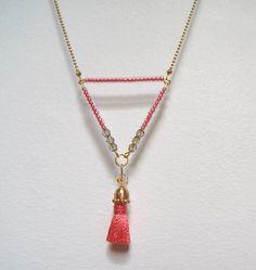 Collier Sautoir Triangle Indian Tribe : Collier par bijoux-bohemes