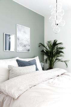 43 Trendy bedroom ideas for small rooms for adults green ideas for smal., 43 Trendy bedroom ideas for small rooms for adults green ideas for small rooms for adults. Calming Bedroom Colors, Best Bedroom Paint Colors, Bedroom Color Schemes, Green Bedroom Colors, Green Bedroom Decor, Paint Schemes, Small Room Bedroom, Master Bedroom Design, Bedroom Wall