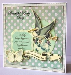 Kaisercraft Bundle of Joy Baby Boy Cards, American Crafts, Baby Boy Newborn, Kids Cards, Clear Stamps, Beautiful Babies, Mini Albums, Paper Flowers, New Baby Products