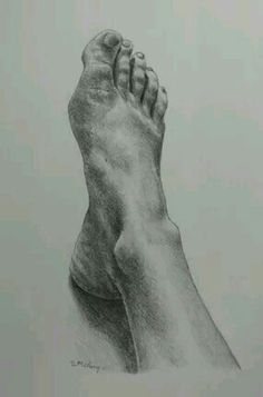 I m well jealous of this foot drawing mine sucks in comparison # Feet Drawing, Body Drawing, Life Drawing, Figure Drawing, Painting & Drawing, Drawing Practice, Anatomy Sketches, Anatomy Drawing, Human Figures