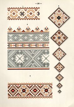 Free Clip Art and Digital Collage Sheet - Belarusian ethnic embroidery   Magic of Color