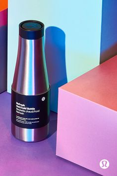 4a60196d0d lululemon's insulated water bottle with a multi-flow lid keeps your  beverage hot or cold