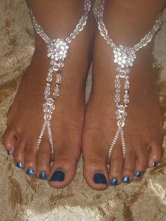 Wedding Barefoot sandals Foot jewelry Anklet by SubtleExpressions, $17.00