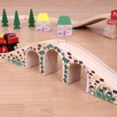 3 Arch Viaduct (Bridge) - BigJigs Đường sắt