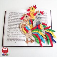 Ravelry: 123 Rooster bookmark pattern by LittleOwlsHut